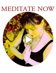 Round Meditation Button